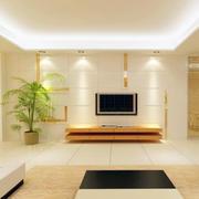 客厅电视背景墙灯光设计