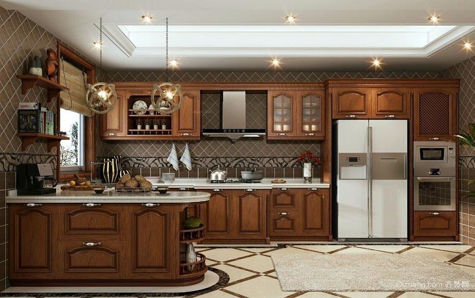 宜家别墅美式风格20平米厨房装修效果图