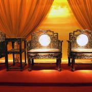 紫檀木实木家具装修灯光设计