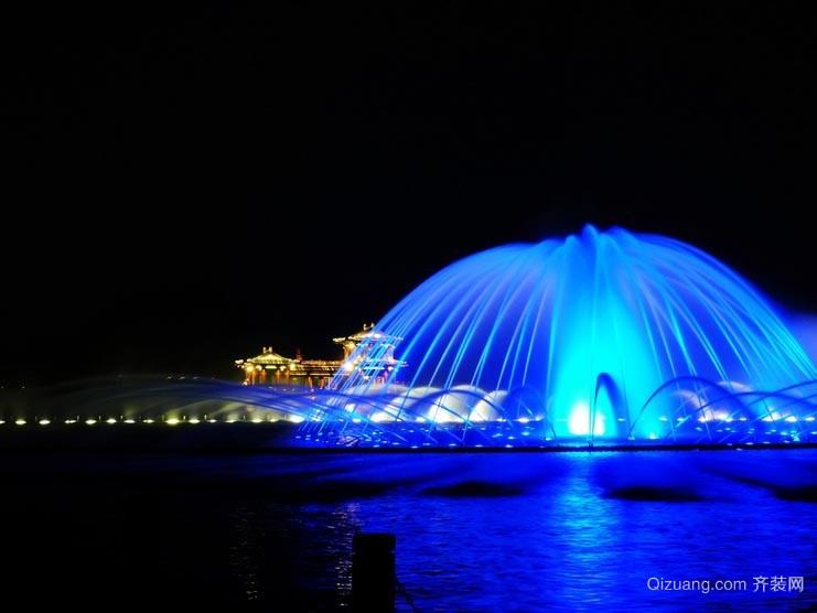 城市美景:广场音乐喷泉效果图