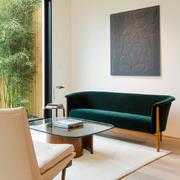 别墅棕色沙发设计