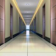 宾馆吊顶装修走廊图
