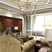 欧式客厅软包背景墙装饰
