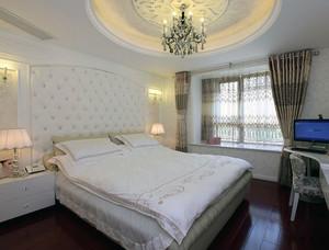 现代欧式大户型卧室石膏线装修效果图