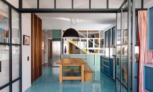 明丽温婉:90平米美式2居公寓式住宅装修图