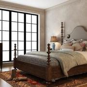 美式卧室床展示