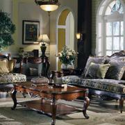 美式家具客厅装修吊顶图