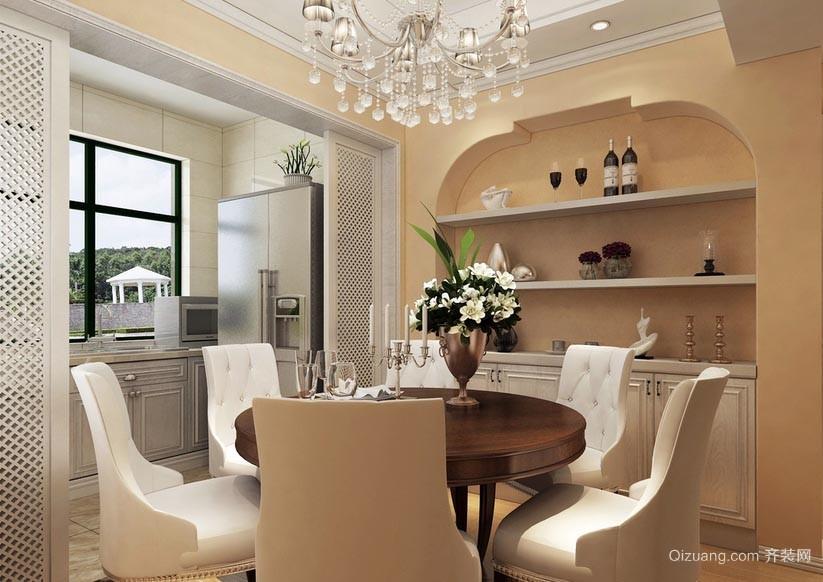 温婉优雅的美式风格餐厅装修效果图
