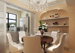 暖色调的美式餐厅设计