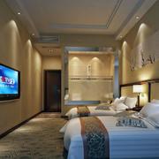 宾馆吊顶装修背景墙图