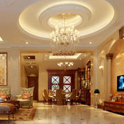 欧式奢华别墅客厅背景墙