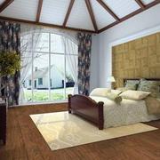 别墅简约风格卧室地板装饰