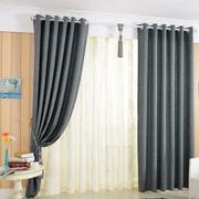 灰色的卧室窗帘
