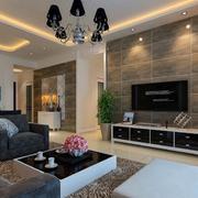 客厅微晶石电视背景墙