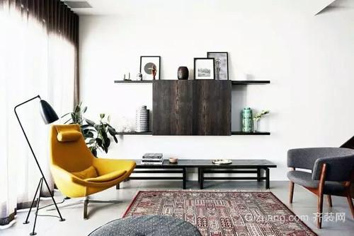 恬淡娴雅:67㎡简欧小户型公寓客厅装修图例