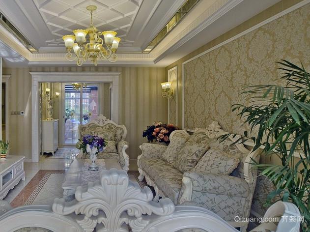 2015全新欧式别墅客厅精美壁纸效果图