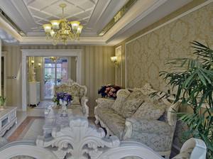 欧式奢华精致客厅壁纸装饰