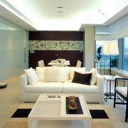 现代风格公寓客厅吊顶