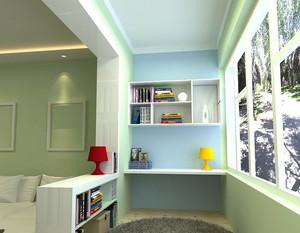 现代简约风格阳台书房设计