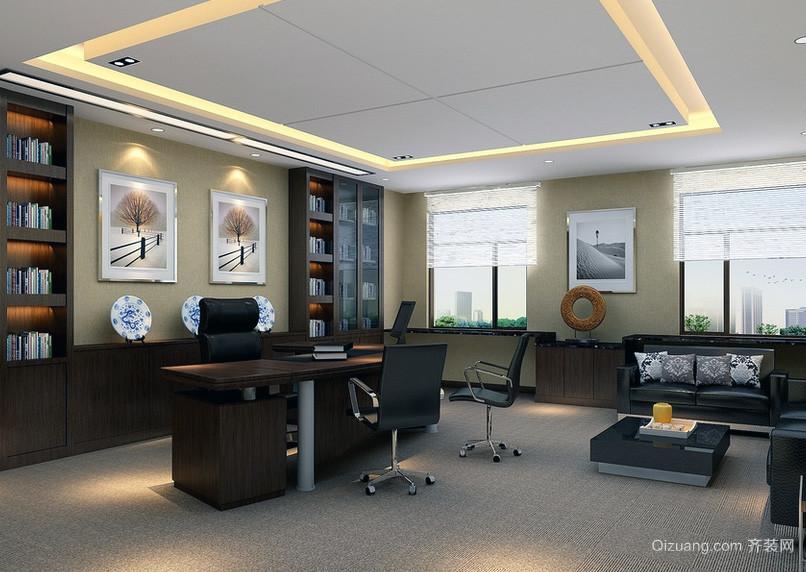 都市精致老总办公室设计装修效果图