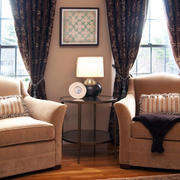客厅窗帘装修灯光设计