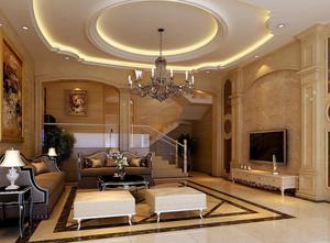 农村自建欧式别墅客厅装修效果图设计
