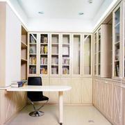 欧式一体式书房书柜装修
