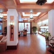 东南亚风格会所简约吊顶设计