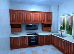 干净整洁厨房橱柜展示