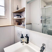 简欧独立优雅型洗手间设计