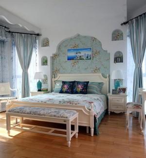 2015地中海风格布艺窗帘装修效果图