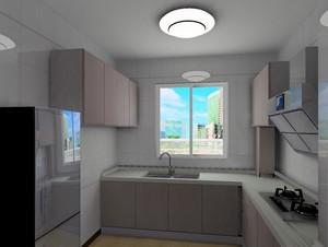 现代简约风格18平米厨房橱柜门板效果图