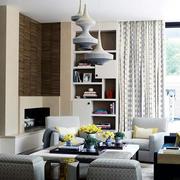 简欧白色通透性客厅设计