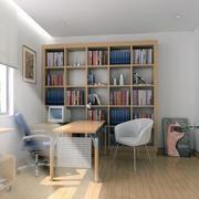 小书房装修飘窗图
