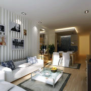 交换空间小户型设计装修客厅图