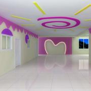 幼儿园壁画装修室内图