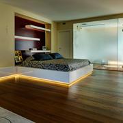 复式楼卧室地板装饰