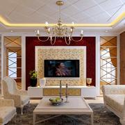 唯美风格电视背景墙