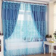 蓝色浪漫的窗帘