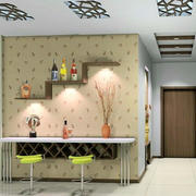 别墅客厅简约风格壁纸装饰