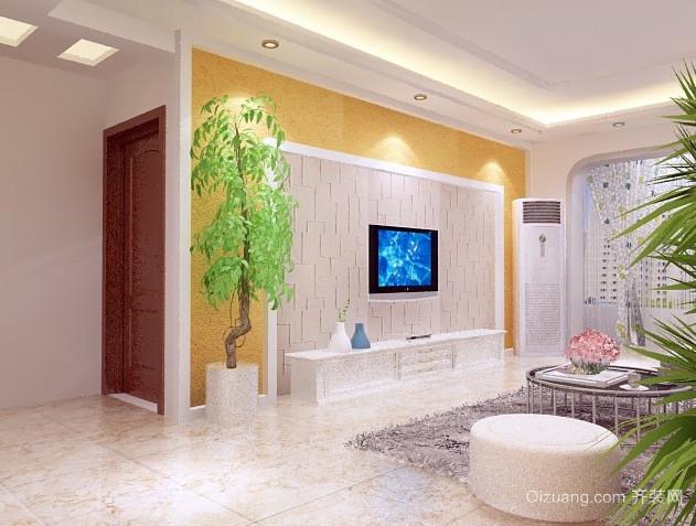 全新现代简约风格硅藻泥电视背景墙设计