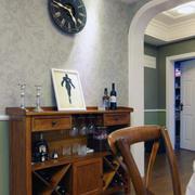 小户型家装美式家具装修背景墙图