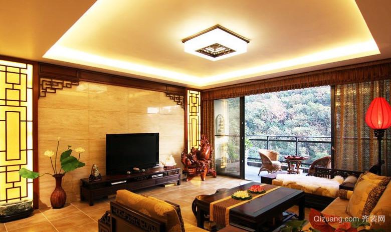别墅豪华奢侈客厅电视背景墙效果图