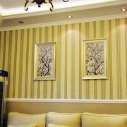 美式简约风格客厅壁纸效果图