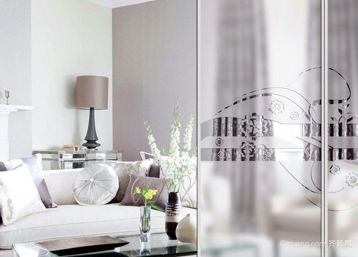 公寓专用磨砂玻璃门装修效果图