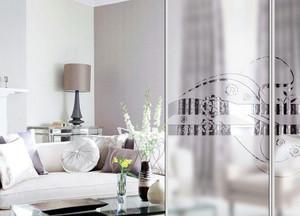 欧式简约卧室玻璃门设计