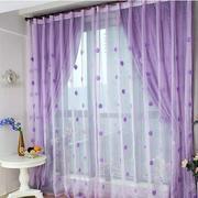 紫色蕾丝窗帘设计