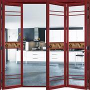 红色框框的折叠门