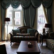 美式奢华风格家居客厅窗户设计