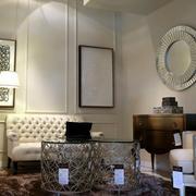 美式简约风格家居客厅沙发装饰